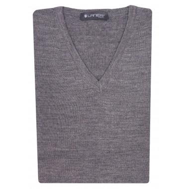 Szary gładki sweter męski SW6