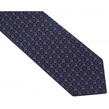 Granatowy krawat męski - siatka D105