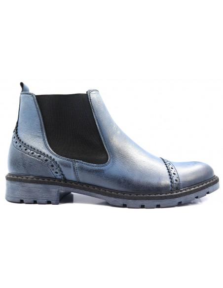 Unikatowe niebieskie zimowe obuwie T67