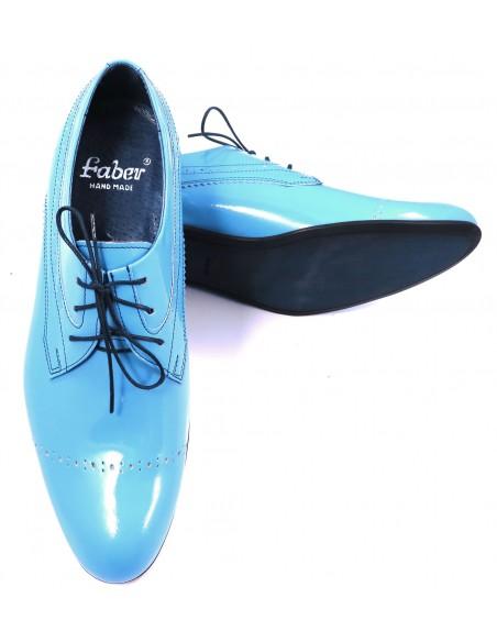 Unikatowe błękitne obuwie męskie T68