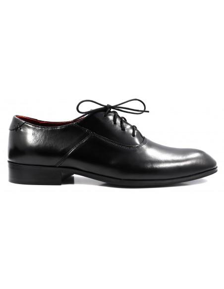 Wiedenki - oksfordy - czarne obuwie męskie T69