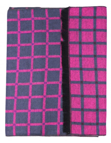 Różowo-szary szal męski I21