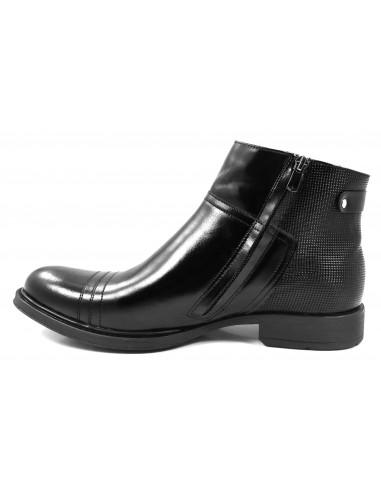 Czarne buty zimowe T76