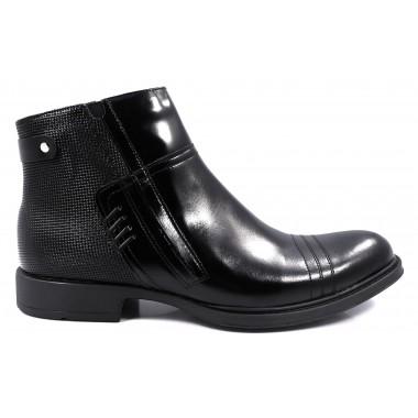 Czarne buty zimowe - trzewiki Faber T76