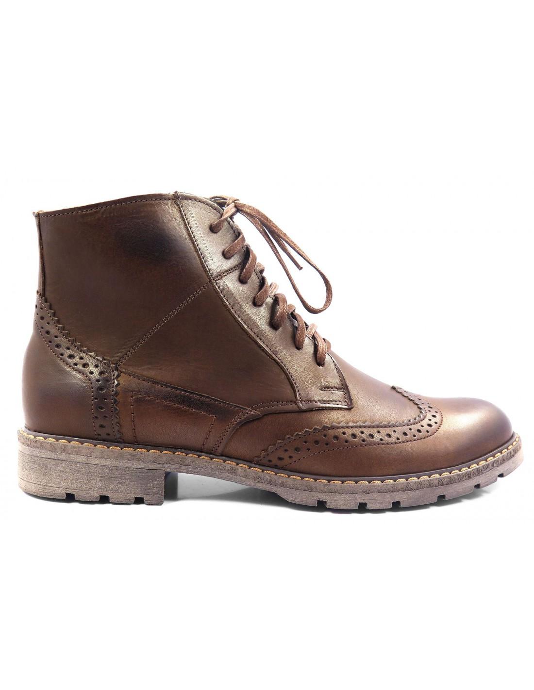 249a78dc Skórzane brązowe buty męskie zimowe | Sklep Internetowy Modini.pl