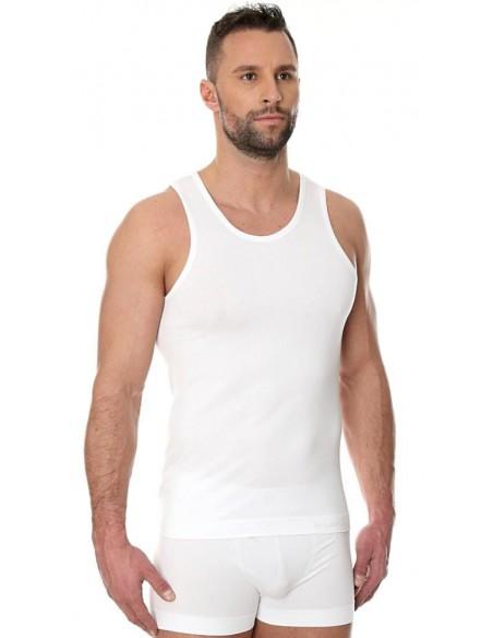 Podkoszulek męski biały Brubeck - bawełna