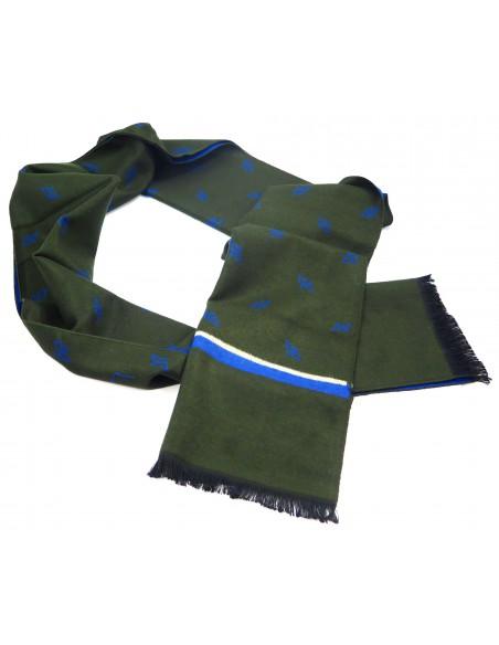 Zielono-niebieski szal męski I45