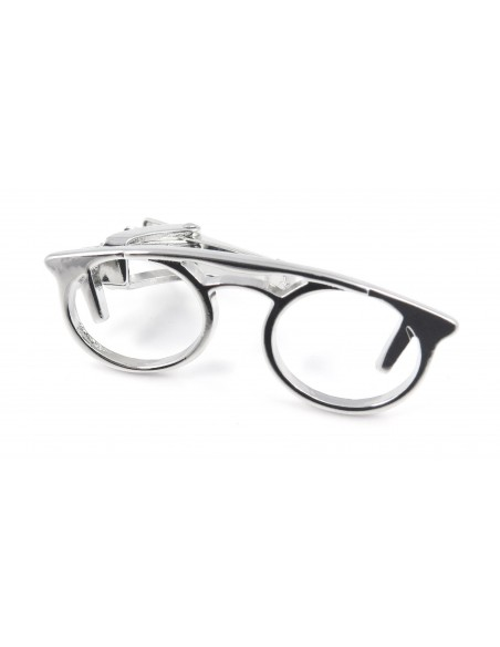 Srebrna spinka do krawata - okulary ZS12