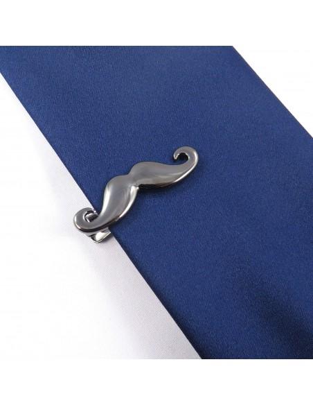 Grafitowa spinka do krawata - wąsy ZS13