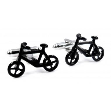 Czarne spinki do mankietów - rowery U106
