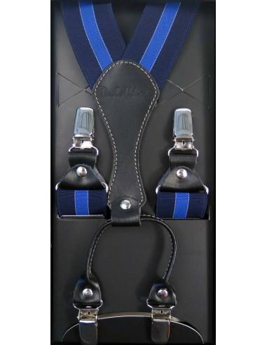 Kobaltowe Szelki Męskie z Lazurowym Akcentem
