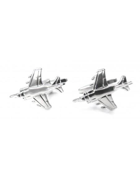 Srebrne spinki do mankietów - samoloty U113