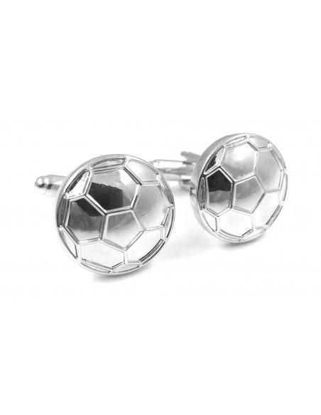Srebrne spinki do mankietów - piłki U118