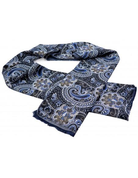 Bawełniany szalik męski we wzór paisley R27
