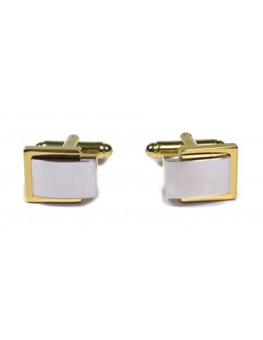 Złote / srebrne spinki do koszuli A15