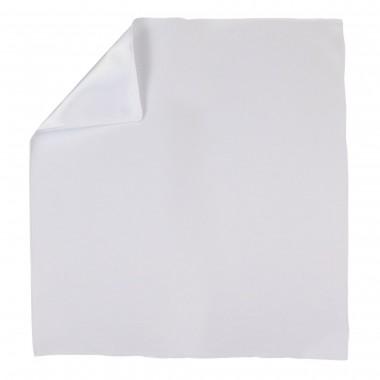 Biała gładka poszetka E20