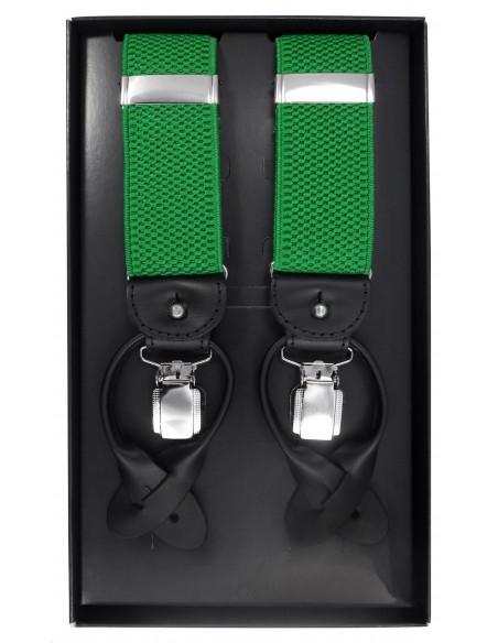Zielone szelki męskie na guziki G47