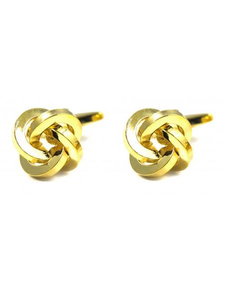 Spinki do mankietów - złote węzełki U132