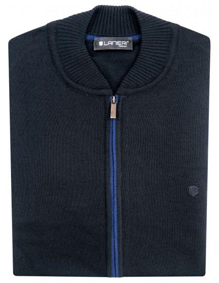 Granatowy rozpinany sweter męski SW24
