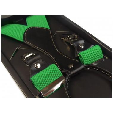Zielone szelki męskie do spodni SZ8