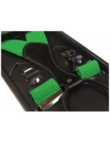 Jasno zielone szelki męskie do spodni SZ8