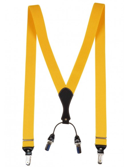 Żółte szelki męskie do spodni SZ9
