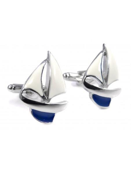 Spinki do mankietów - statki z białymi żaglami U143