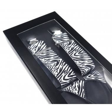 Czarno-białe szelki unisex - wzór zebry X12