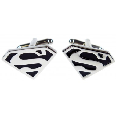 Srebrne spinki do mankietów - superman H83