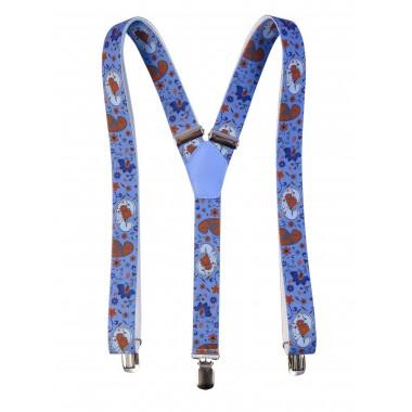 Niebieskie szelki wzór paisley x16