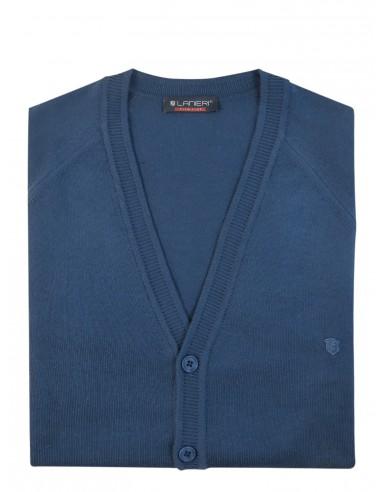 Niebieski sweter/cardigan casual SW26