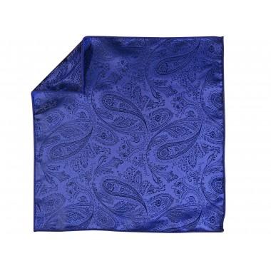 Niebieska poszetka we wzór paisley EC2