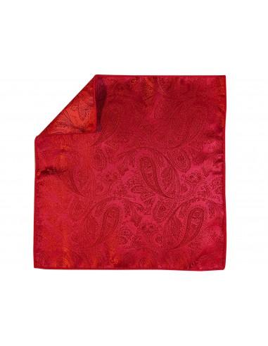 Czerwona poszetka we wzór paisley EC3