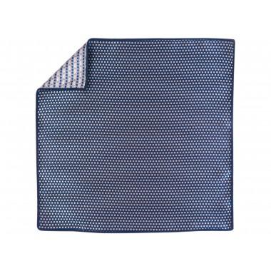 Niebieska poszetka w białe kropki EC13