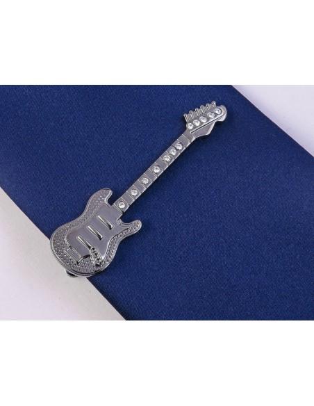 Grafitowa spinka do krawata - gitara elektryczna ZS16