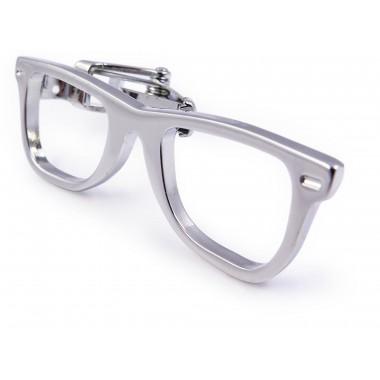 Spinka do krawata - srebrne okulary ZS24