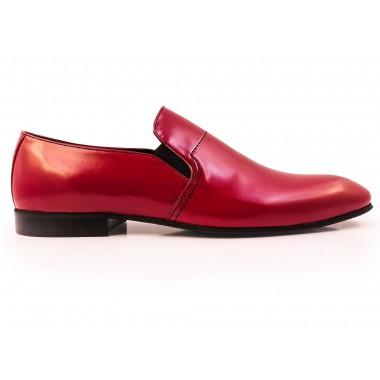 Czerwone wsuwane buty męskie F42