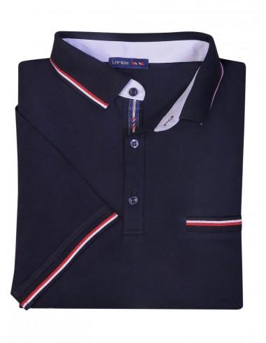 Męska koszulka polo - ciemnogranatowa KP1