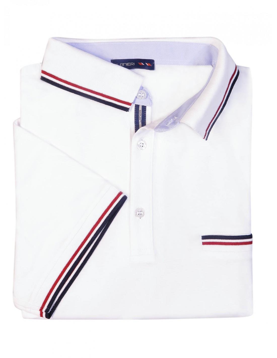 979fe9a9eed28c Męska koszulka polo - biała KP2   Sklep Internetowy Modini.pl