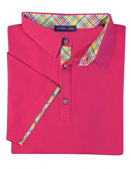 Męska koszulka polo - róż KP5