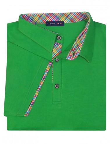 Męska koszulka polo - zielona KP6
