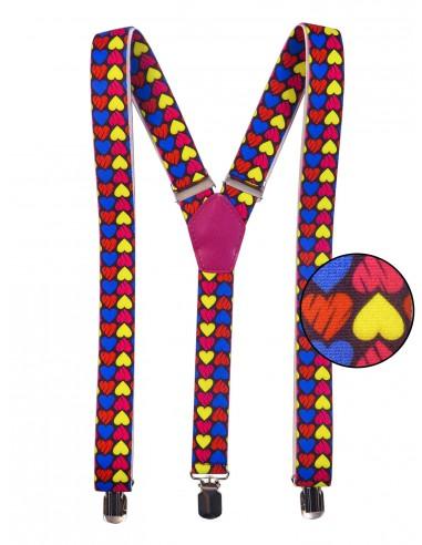 Szelki unisex w kolorowe serca X17