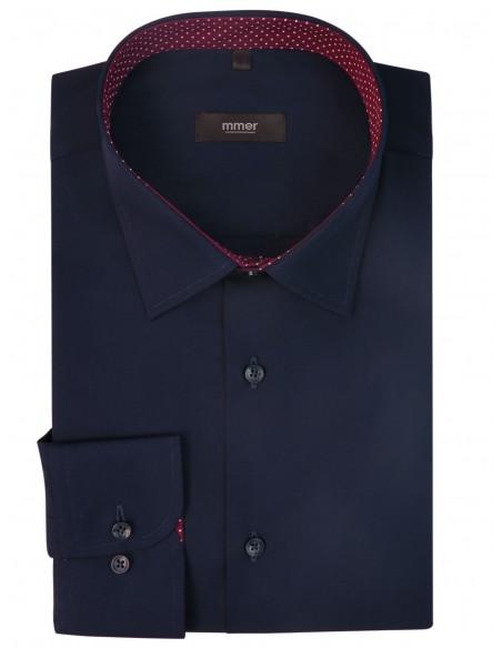 Granatowa koszula męska z długim rękawem 302N