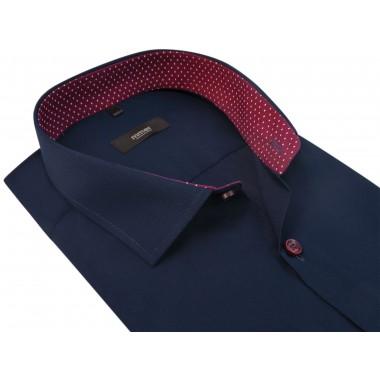 Granatowa koszula męska z krótkim rękawem 302N