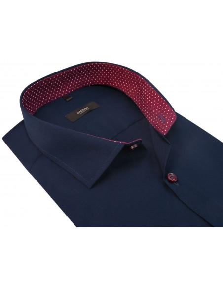 Granatowa koszula męska z krótkim rękawem 302K