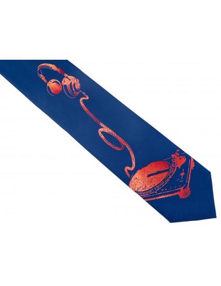 Granatowy krawat dla DJ'a D149