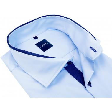 Niebieska koszula z krótkim rękawem K888
