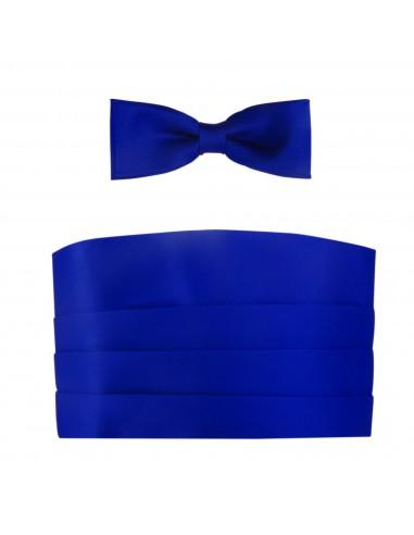 Kobaltowy - niebieski pas smokingowy...
