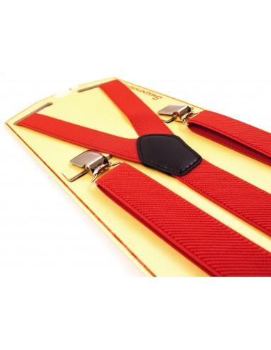 Czerwone Szelki Wąskie Unisex - 2,5cm T22