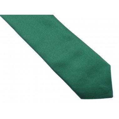 CIemnozielony krawat z poszetką